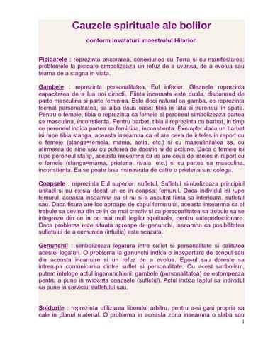 cancer limfatic cauze spirituale