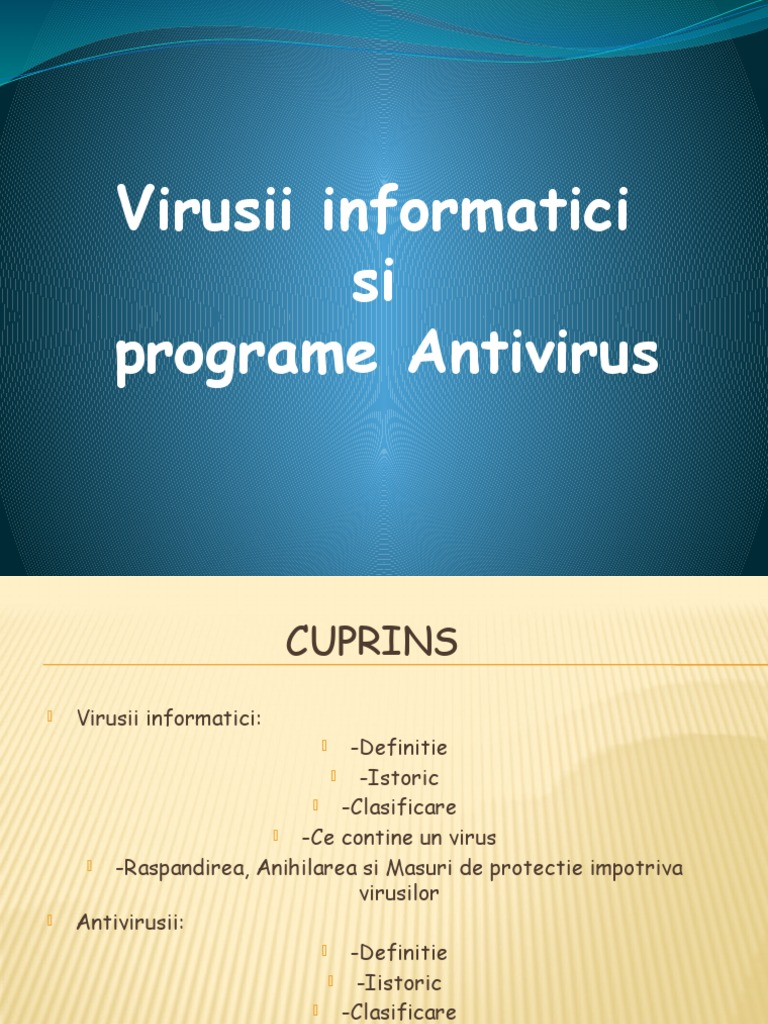 virusi informatici definitie
