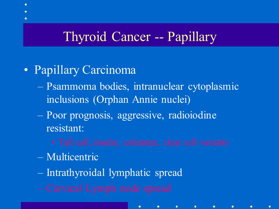 papillary thyroid cancer can it spread genital warts on tongue cure