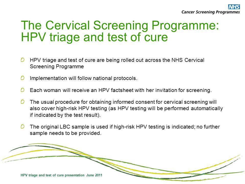 hpv triage nhs que es papiloma humano y sintomas