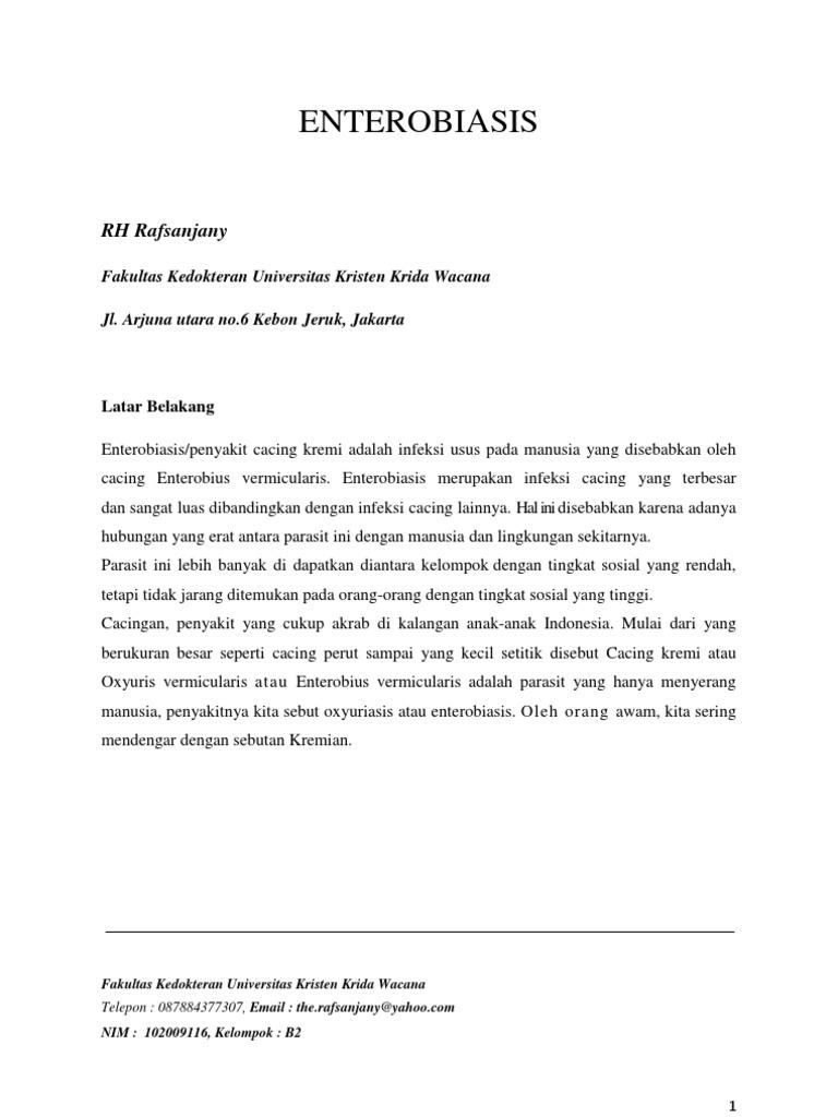 enterobiasis jurnal
