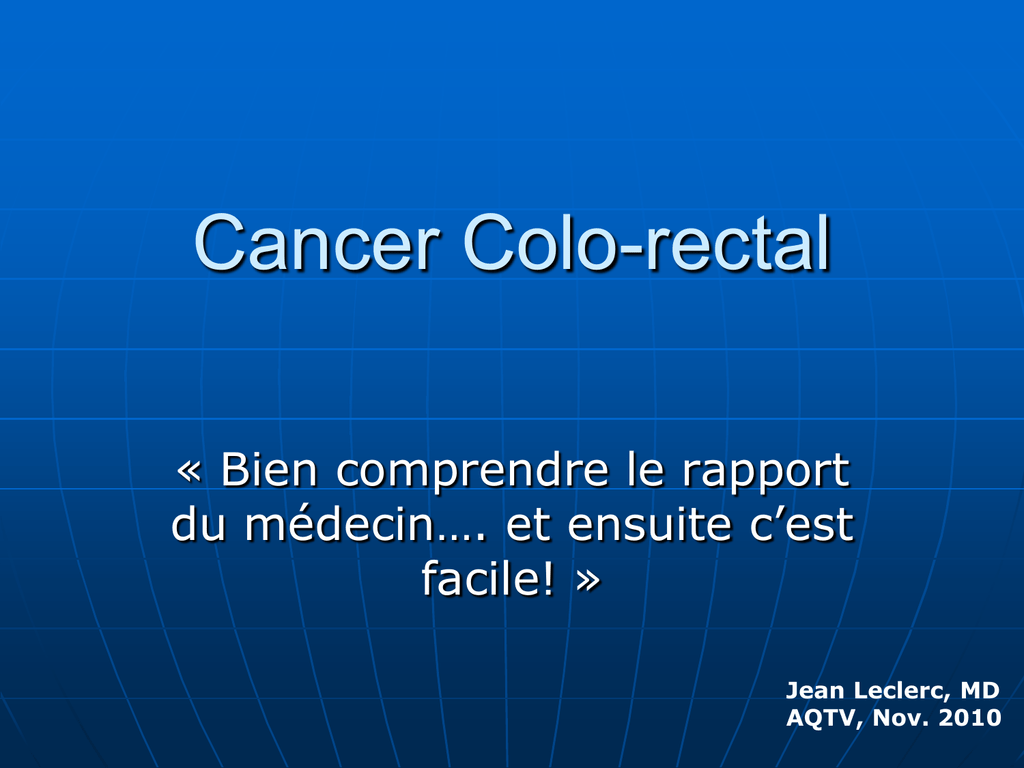 cancer colorectal hereditaire sans polypose