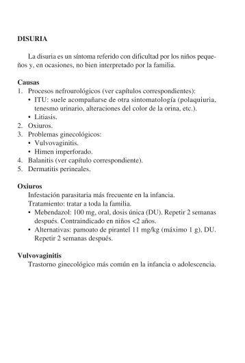 tratamiento oxiuros pediatria cancer de pancreas metastase