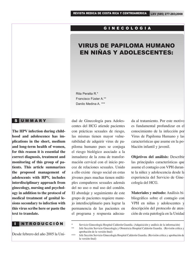 virus del papiloma humano principales caracteristicas