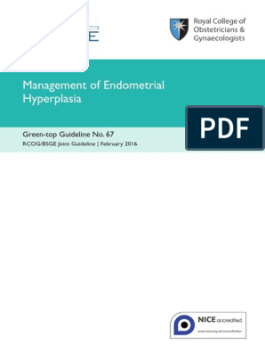 endometrial cancer rcog guidelines hpv virus and chlamydia