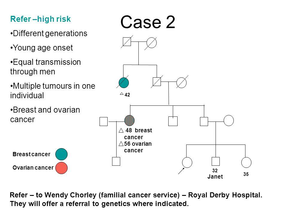 familial cancer derby royal