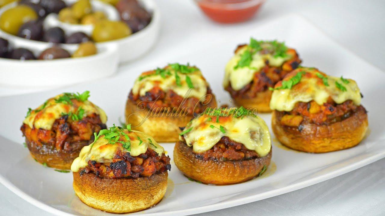Ciuperci umplute, la cuptor