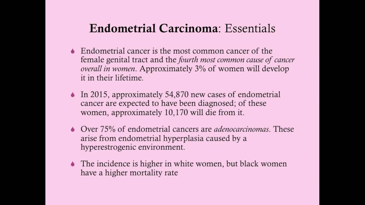 endometrial cancer rcog guidelines giardia lamblia paraziti nedir
