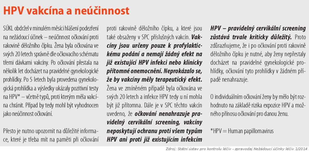 ockovani hpv recenze cancer col uterin dupa operatie