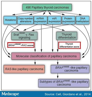 papillary thyroid cancer gene mutations