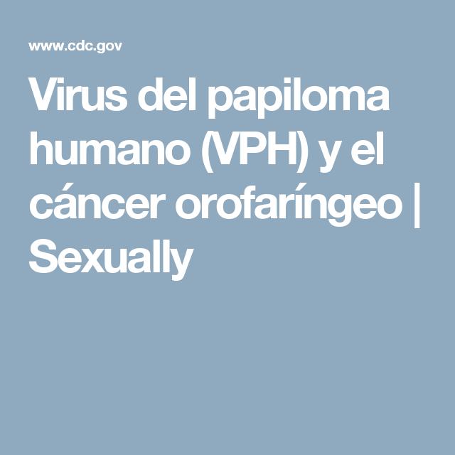 virus papiloma humano cancer orofaringeo