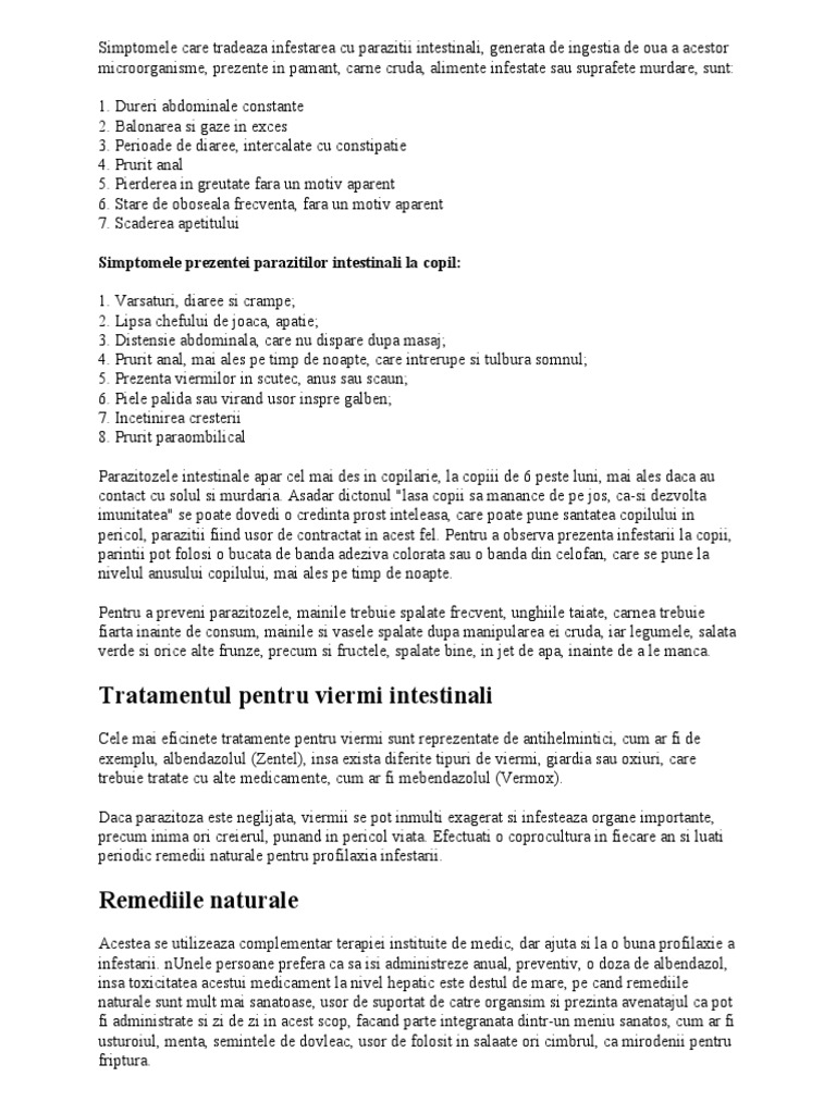Remedii eficiente contra paraziţilor intestinali | adventube.ro