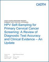 human papillomavirus testing for primary cervical cancer screening