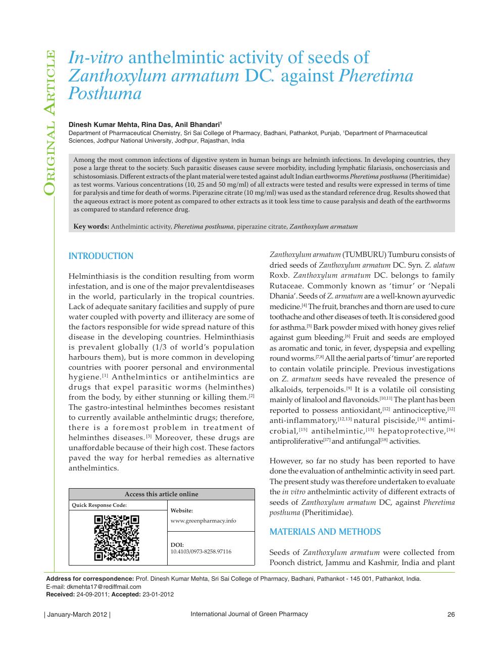 anthelmintic activity methods paraziti piele simptome