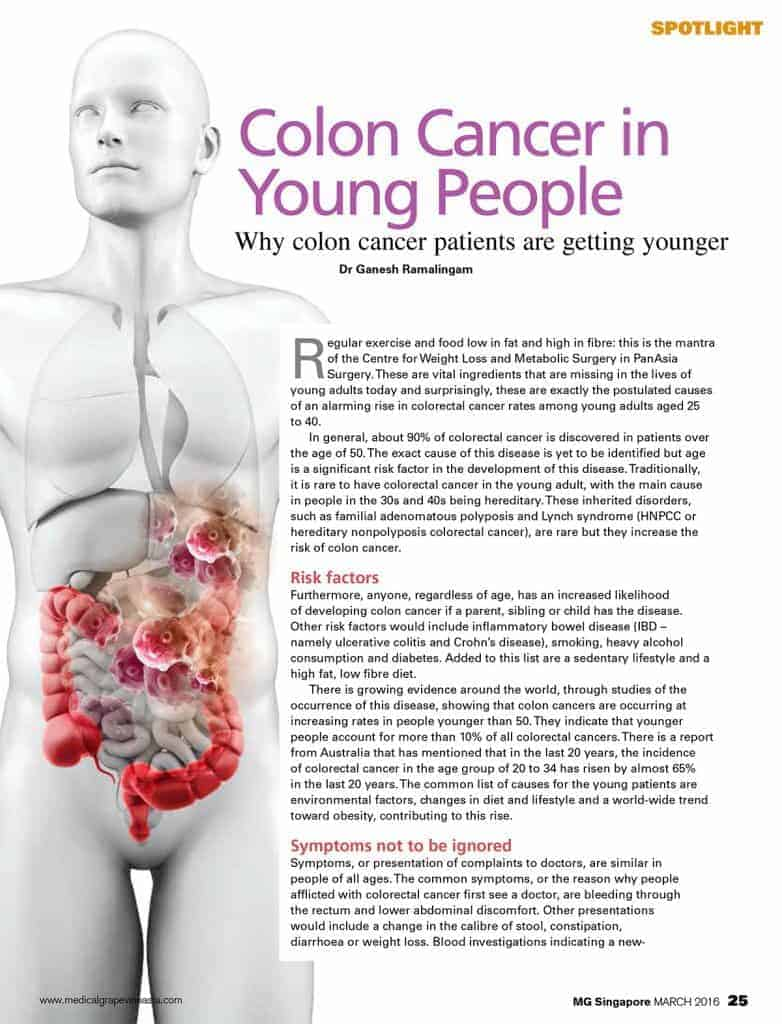 colon cancer abdominal discomfort