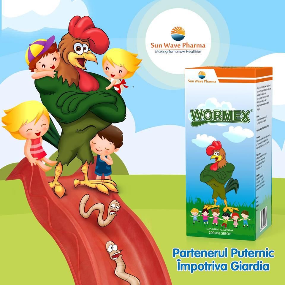 wormex pt copii godina parazitii