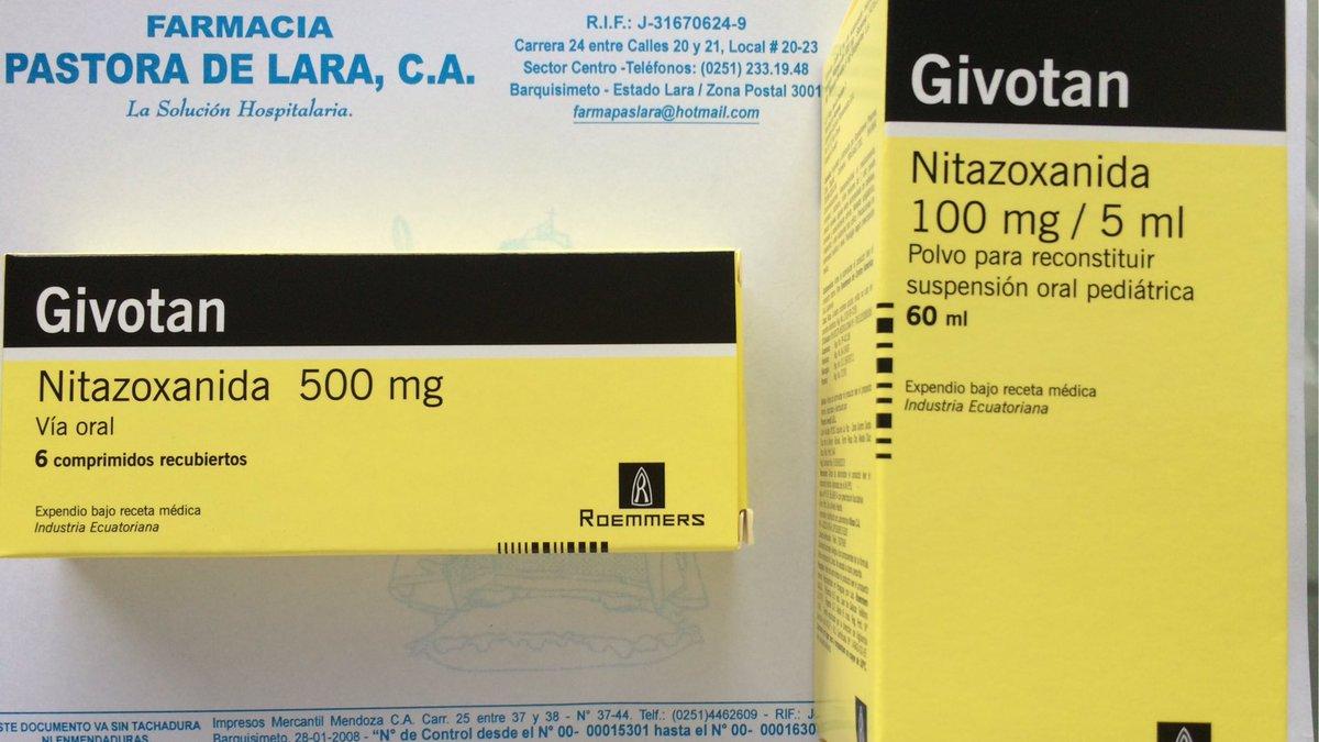 nitazoxanida en oxiuros