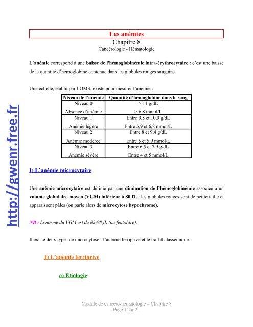 anemie 8