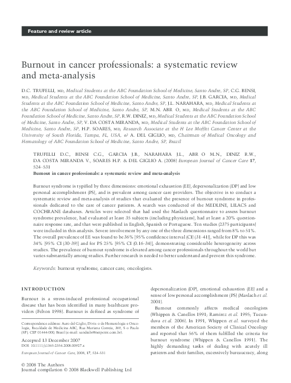 cancer professional journal