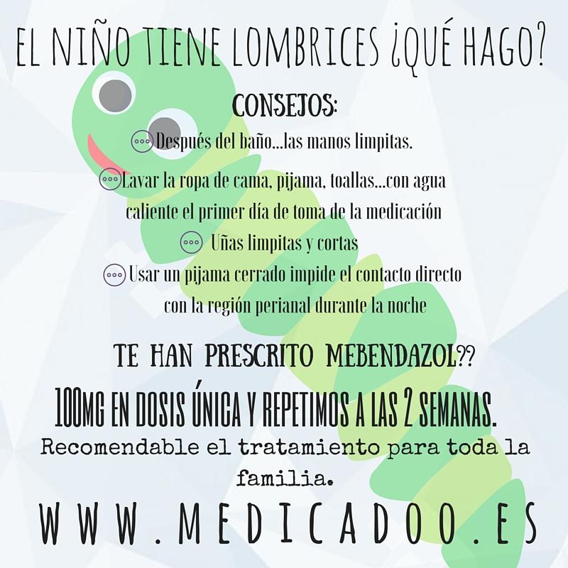 tratamiento para oxiuros mebendazol