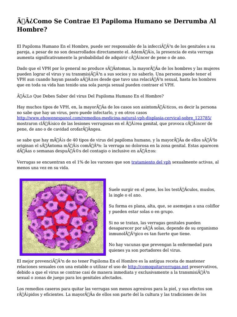 virus del papiloma que lo produce