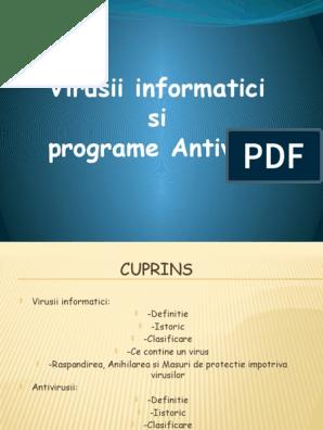 Definitie virusi informatici